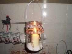 Lanterna de Vidro Reciclado