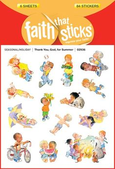 Thank You, God, for Summer Faith That Sticks stickers