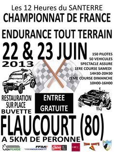 Automobile : Championnat de France endurance tout terrain 2013 à Flaucourt. Du 22 au 23 juin 2013 à Flaucourt.