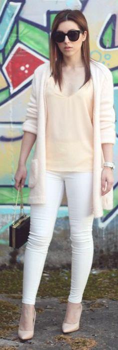 Zara Nude Knit Cardi this look is refreshing