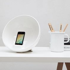 iPhone Ceramic Amplifier by TOTO Design | MONOQI