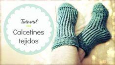 Calcetines tejidos fáciles en telar circular