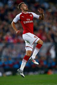 Aaron Ramsey of Arsenal celebrates after scoring a goal during the match between the Western Sydney Wanderers and Arsenal FC at ANZ Stadium on July 15, 2017 in Sydney, Australia.