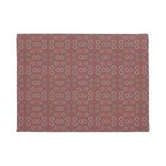 Find the Rabbit rustic pattern gray & terracotta Doormat - pattern sample design template diy cyo customize
