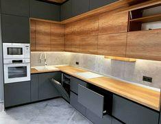 Kitchen Pantry Design, Condo Kitchen, Home Decor Kitchen, Modern Kitchen Interiors, Modern Kitchen Design, Interior Design Kitchen, Kitchen Modular, Cuisines Design, Architecture