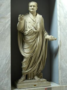 Statue of the emperor Titus. Marble. 1st century A.D. Inv. No. 2282. Rome, Vatican Museums, Chiaramonti, New wing.