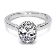 Tacori oval diamond engagement ring