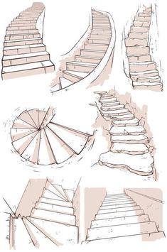 kibbitzer is creating A massive collection of reference sheets Drawing Tips perspective drawing Drawing Poses, Drawing Tips, Drawing Drawing, House Drawing, House Sketch, Staircase Drawing, Spiral Staircase, Staircases, Sketching Tips