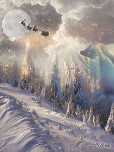 Magical Christmas, Christmas Past, Beautiful Christmas, Winter Christmas, Vintage Christmas, Xmas, Christmas Wreaths, Christmas Scenes, Christmas Pictures