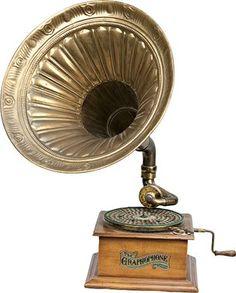 1900 Columbia Phonograph Co. Hand-Crank Oak Graphophone