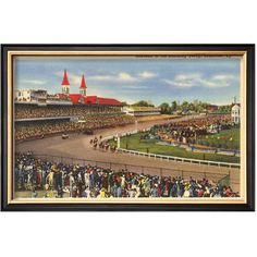 Framed Kentucky Derby Print Art.com Kentucky Derby ❤ liked on Polyvore