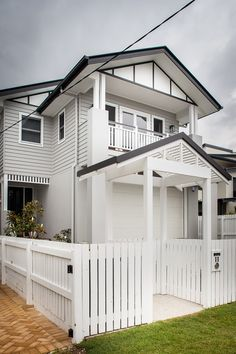 Hamptons Homes - Specialist Brisbane Builder | evermore The Gables, Bedroom Balcony, Garage Doors, Exterior, Outdoor Structures, Outdoor Decor, The Hamptons, Beauty, Style