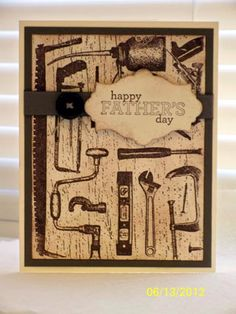 Tool Shed Father's Day by D. Daisy - Cards and Paper Crafts at Splitcoaststampers