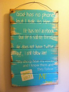 God has no phone He has no facebook 13w x 21h by OttCreatives, $42.00