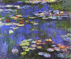 Claude Monet Water-Lilies 1914 art painting for sale; Shop your favorite Claude Monet Water-Lilies 1914 painting on canvas or frame at discount price. Claude Monet, Monet Paintings, Landscape Paintings, Landscape Quilts, Flower Paintings, Classic Canvas Art, Classic Artwork, Artist Monet, Wow Art