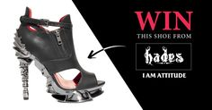 #Giveaway! Draco black peep toe platform shoe from Hades, retail value of $150!