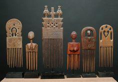 collection of Ashanti combs, Ghana Ghana Art, Afrique Art, Art Tribal, Adinkra Symbols, Art Premier, African Tribes, Statues, African Masks, African Culture