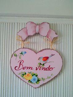 coração enfeite porta