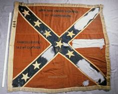 Confederate Battle Flag of the 30th North Carolina State Troops. Rare Sixth Bunting Richmond Depot issue. The 30th NCST under Gen Cox was assigned to Early's command in the Valley District. The battle of Cedar Creek had been devastating to the battle flags of the units in the Shenandoah Valley and with their return in December of 1864 the Richmond Clothing Depot quickly needed to provide replacements and so they produced the sixth bunting.  (Thanks to Edgar Malpass for this info)