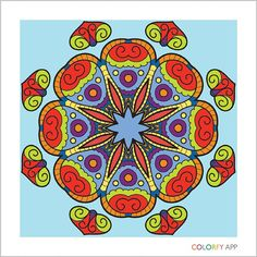 A #mandala I painted in #colorfy #coloring