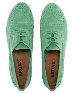 Bronx Lace-Up Brogues @Caitlin Colombo - green shoes :-O