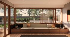 Brick Courtyard, Courtyard House, Brisbane Architects, Small Bungalow, Backyard Office, Wall Seating, Family House Plans, Shed Homes, Indoor Outdoor Living