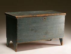 wonderful black blanket chest (in Living room as coffee table)