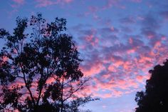 Pink&Purple sunrise clouds