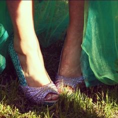 My Ariel Mermaid inspired prom shoes (: