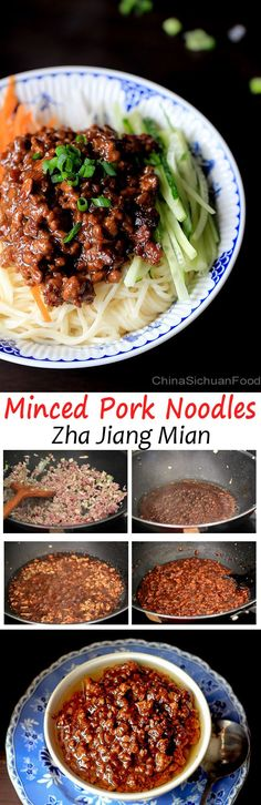 Zha Jiang Mian—Minced Pork Noodles | China Sichuan Food