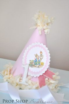 Girls Peter Rabbit Birthday Party Hat