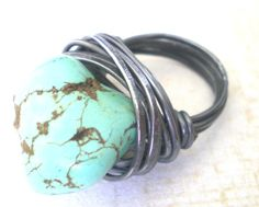 I want a turquoise ring so bad.  I've heard you've been making these ;) @Stephanie Close Borchers