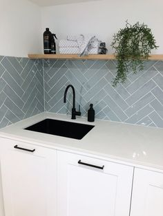 Modern Laundry Rooms, Laundry In Bathroom, Master Bathroom, Laundry Room Remodel, Kitchen Remodel, Bathroom Interior Design, Interior Design Living Room, Concealed Laundry, Kitchen Splashback Tiles