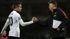 Man Utd manager Louis van Gaal (R) has wished Robin van Persie well in Turkey