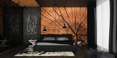 black interior design, bedroom ideas, bedroom design, black bedroom, dark interior