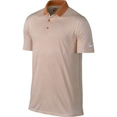 Nike Golf Victory Mini Stripe Polo - Desert Orange/White