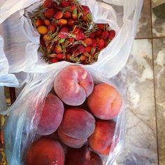 peach & rose hip jam