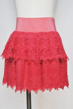 #udtfashion.com           #Skirt                    #Crochet #Lace #Skirt #With #Elastic #Waisband      Crochet Lace Skirt With Elastic Waisband                                      http://www.seapai.com/product.aspx?PID=1162522