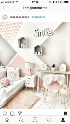 45 stylish & chic kids bedroom decorating ideas for girl and boys 10 Girls Bedroom Ideas Bedroom Boys Chic decorating Girl Ideas Kids Stylish Baby Room Design, Girl Bedroom Designs, Bedroom Styles, Design Bedroom, Cute Room Decor, Baby Room Decor, Room Baby, Baby Bedroom, Girls Bedroom