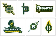 The Belhaven Blazers were making the transition from college to university and needed a brand identity system that would not only celebrate the transition, Brand Identity, Branding, Sports Decals, Team Mascots, Sports Team Logos, B 13, School Design, Logo Inspiration, Cool Things To Make