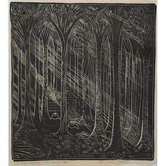 Wharton Esherick Woodcut