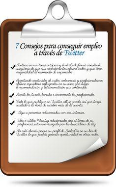 Utiliza Twitter como herramienta en tu busqueda de empleo #infografia (repinned by @ricardollera)