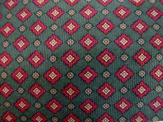 BROOKS BROTHERS Olive Green/Red/Gold Medieval Gothic Diamond Woven Silk Neck Tie #BrooksBrothers #Tie