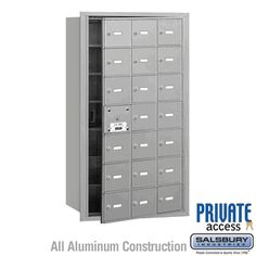 Salsbury Industries Commercial Horizontal Mailbox 21 A Door 20 Usable Front Loading USPS Access Wall Mount Mailbox, Mounted Mailbox, Cluster Mailboxes, Commercial Mailboxes, Post Box Wall Mounted, Security Mailbox, Continuous Hinges, Gibraltar Mailboxes, Architectural Mailboxes