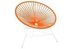 Innit Chair, White/Orange on OneKingsLane.com  $279