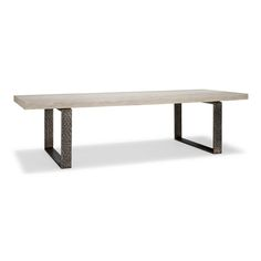 3052 Dario Dining Table DESCRIPTION: Rift Oak Top 3 Inch Thick, Hand Planed