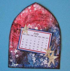 2015 Mixed Media Technique Calendar - July