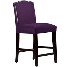 Skyline 64-7NB Nail Button Arched Counter Stool