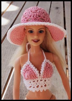 Virkade barbiekläder / crochet barbie clothes