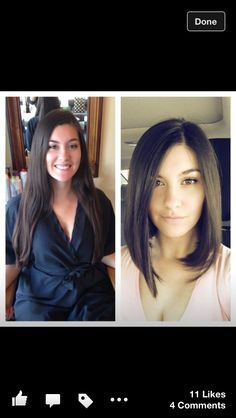 Long bob before and after (I shouldn't have seen this... now i want to cut my hair) UGUASHGWENSJDAFNGRWLGJHALDKV!#%(*TU% lol